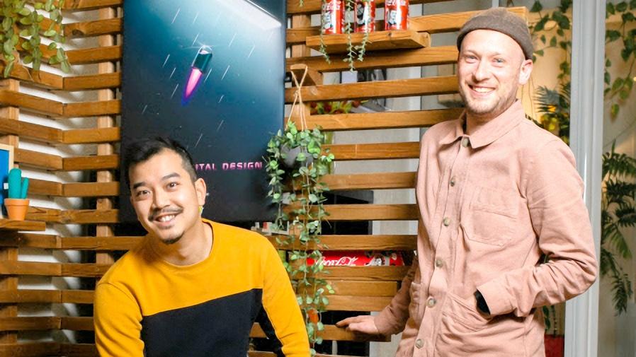 Les cofondateurs Antoine Vu à gauche et Gabriel Picard à droite