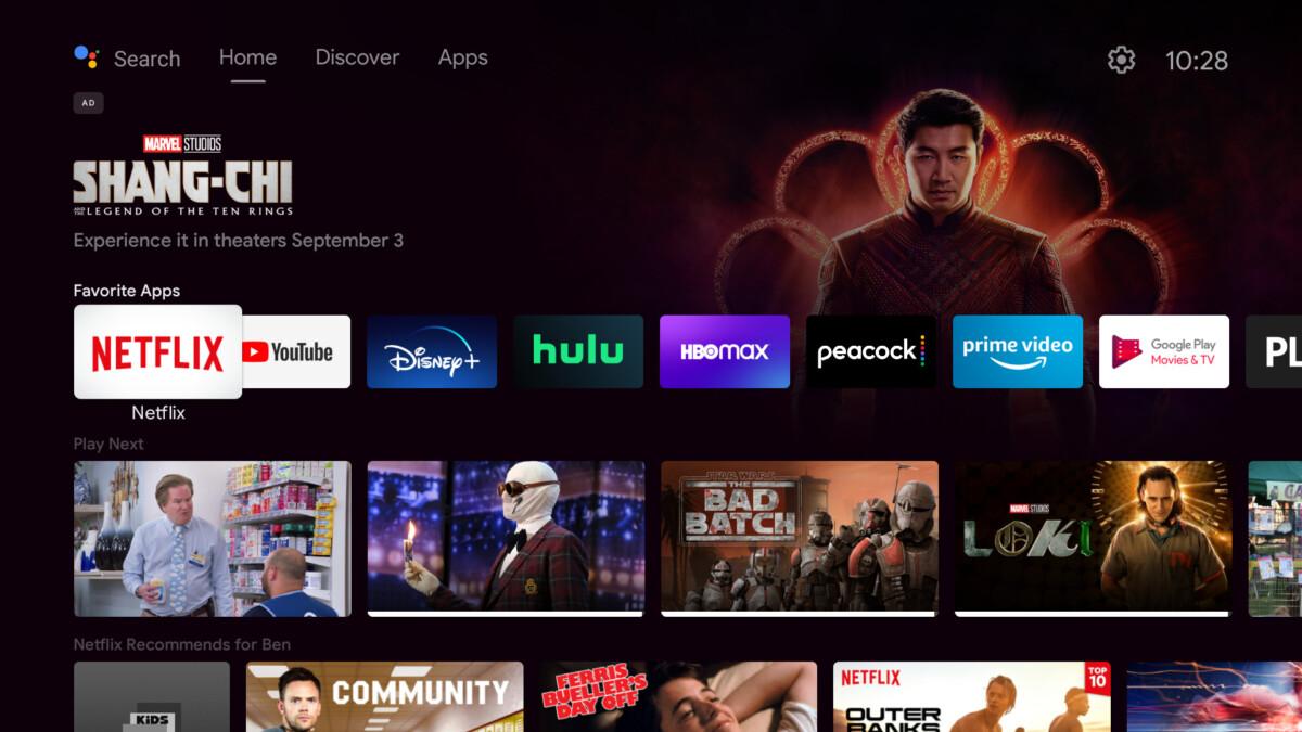 Android TV : Google fait de la pub en home pour du contenu indisponible sur Android TV