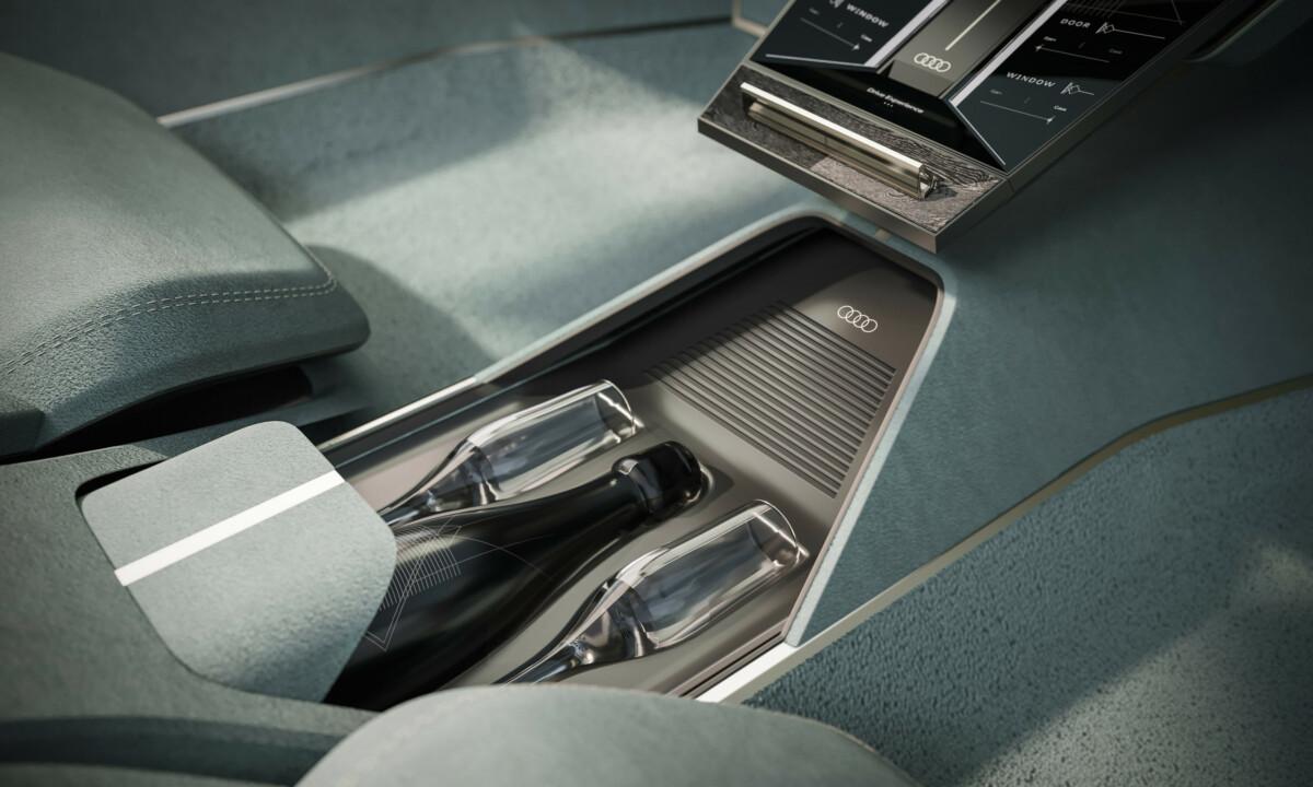 La console centrale de l'Audi Skysphere