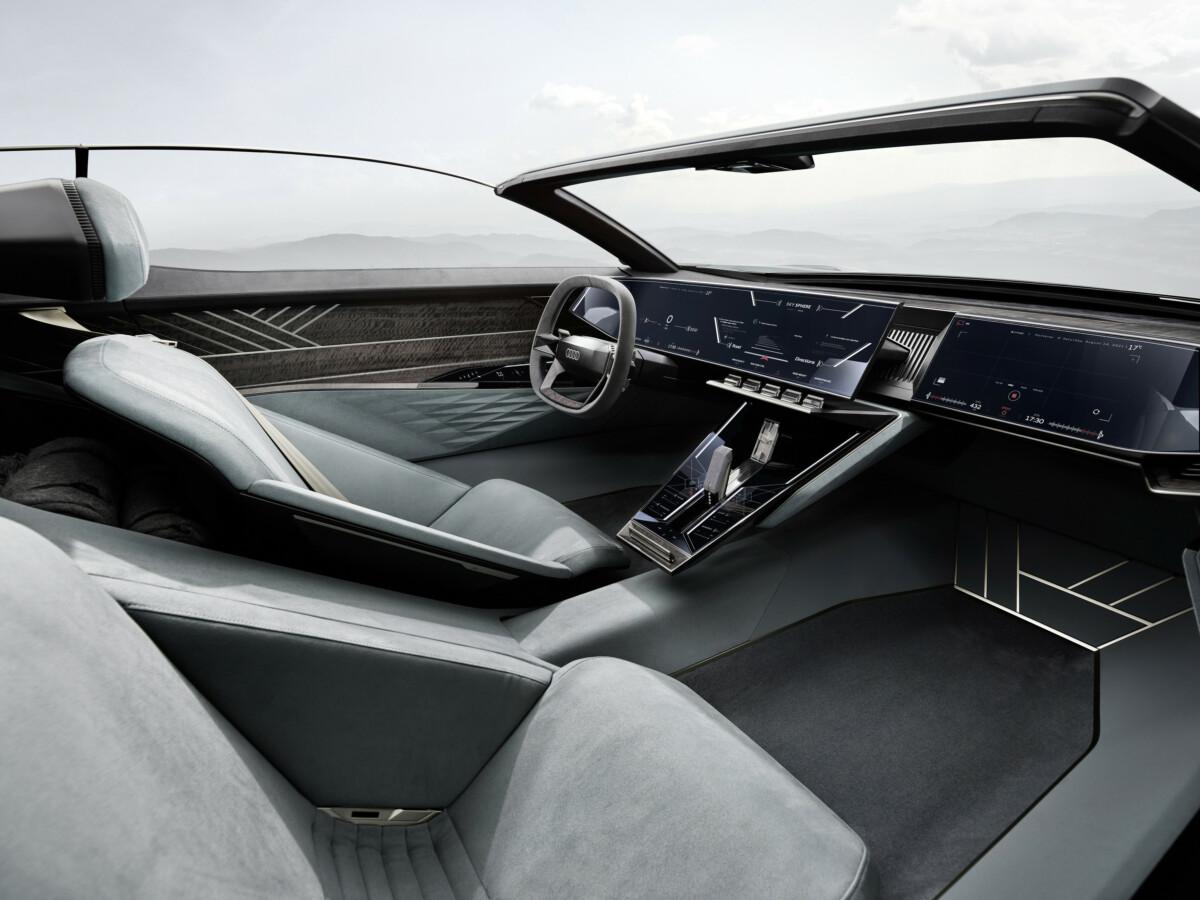 L'intérieur de l'Audi Skysphere