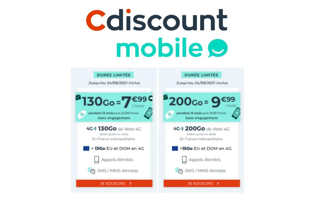 Forfait mobile : de 130 à 200 Go pour moins de 10 €/mois la première année