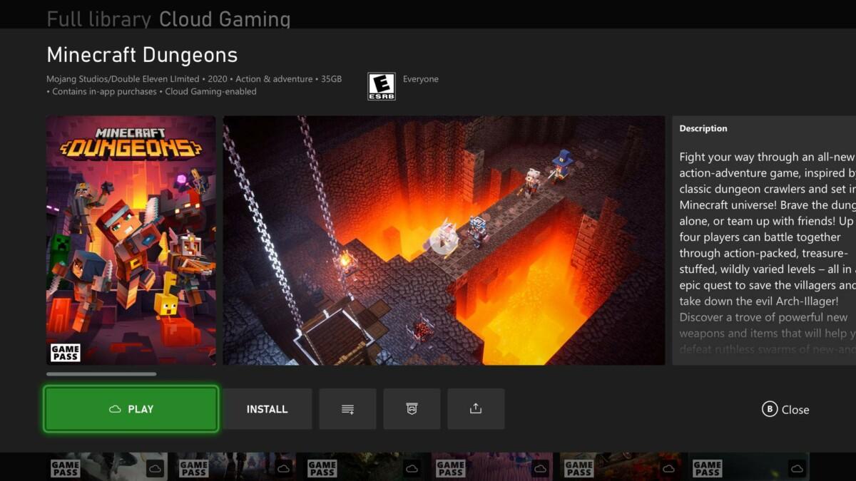 Le cloud gaming arrive sur Xbox One et Xbox Series X S