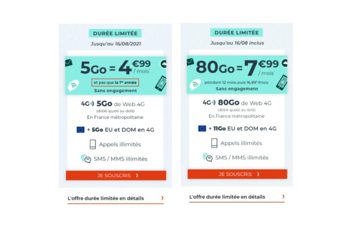 Forfait mobile : Cdiscount lance une offre 80 Go à 8 euros par mois (sans engagement)