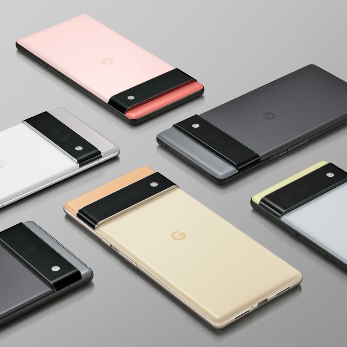 Les coloris des Google Pixel 6 et 6 Pro