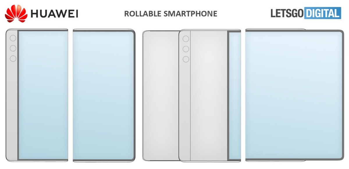 Un brevet de Huawei réfléchit à différents modes pour un écran enroulable