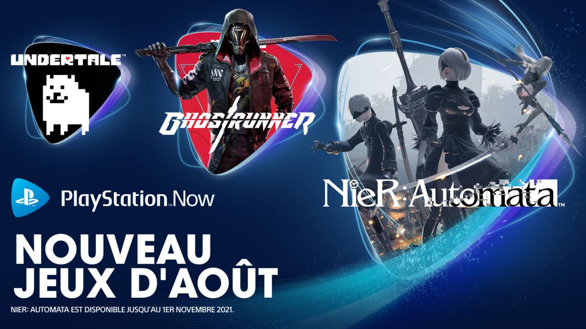 Les jeux ajoutés au PS Now en août 2021