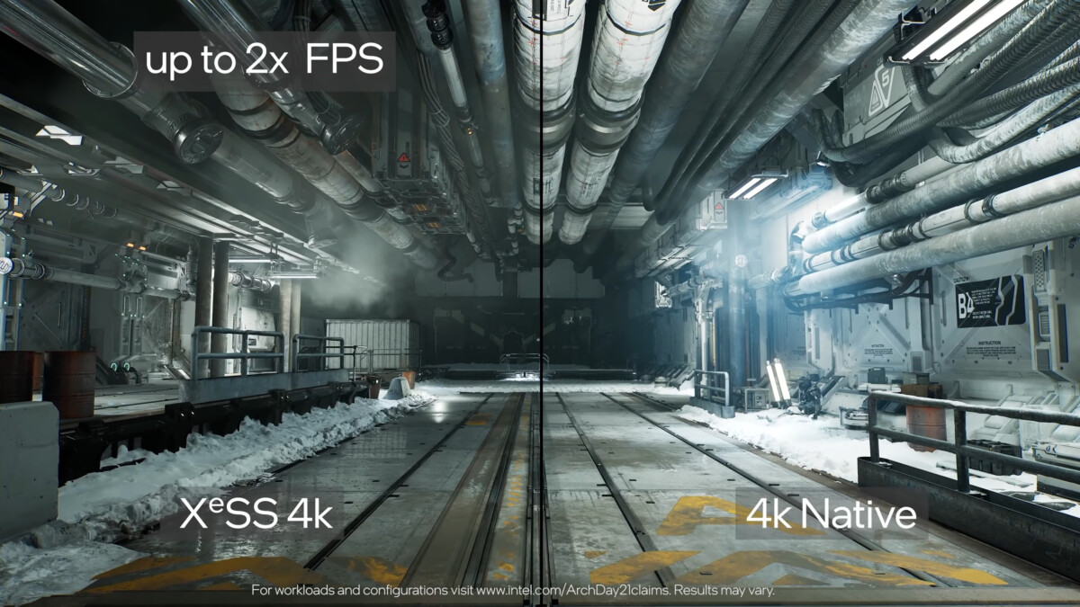 Intel XeSS Upscaling Demo - Architecture Day 2021
