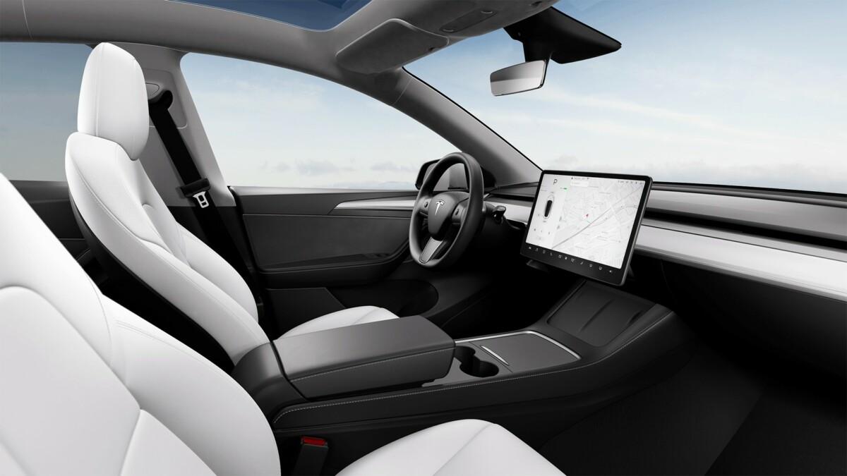 L'intérieur de la Tesla Model Y
