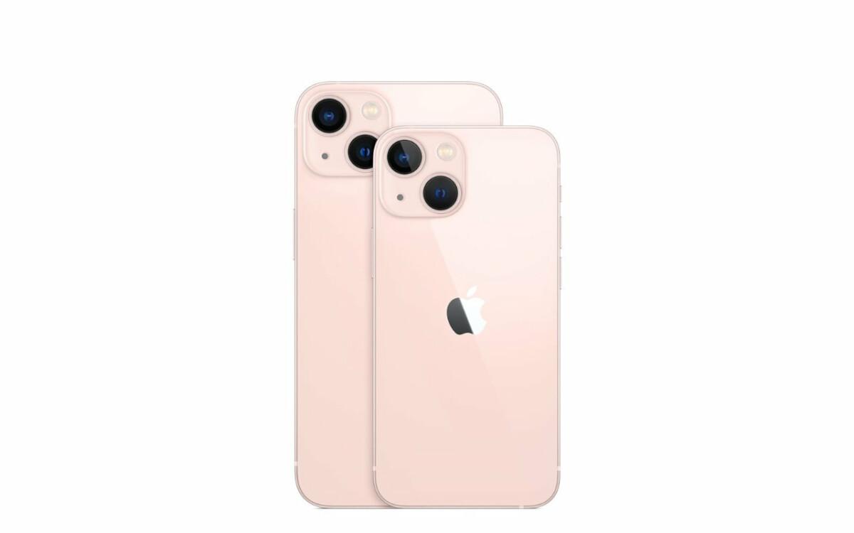L'iPhone13 Mini et son grand frère l'iPhone13