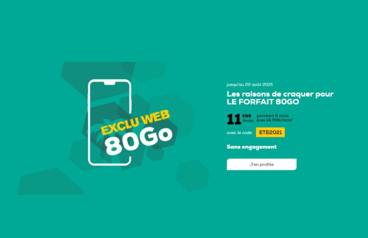 Moins de 12 euros par mois pour ce forfait 4G de 80 Go chez La Poste Mobile