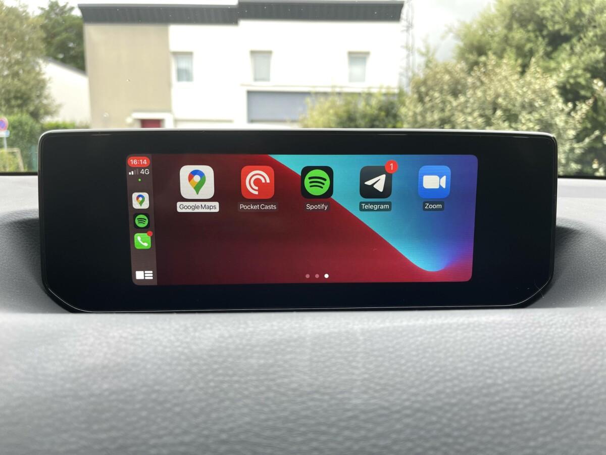 Apple CarPlay sur la Mazda MX-30