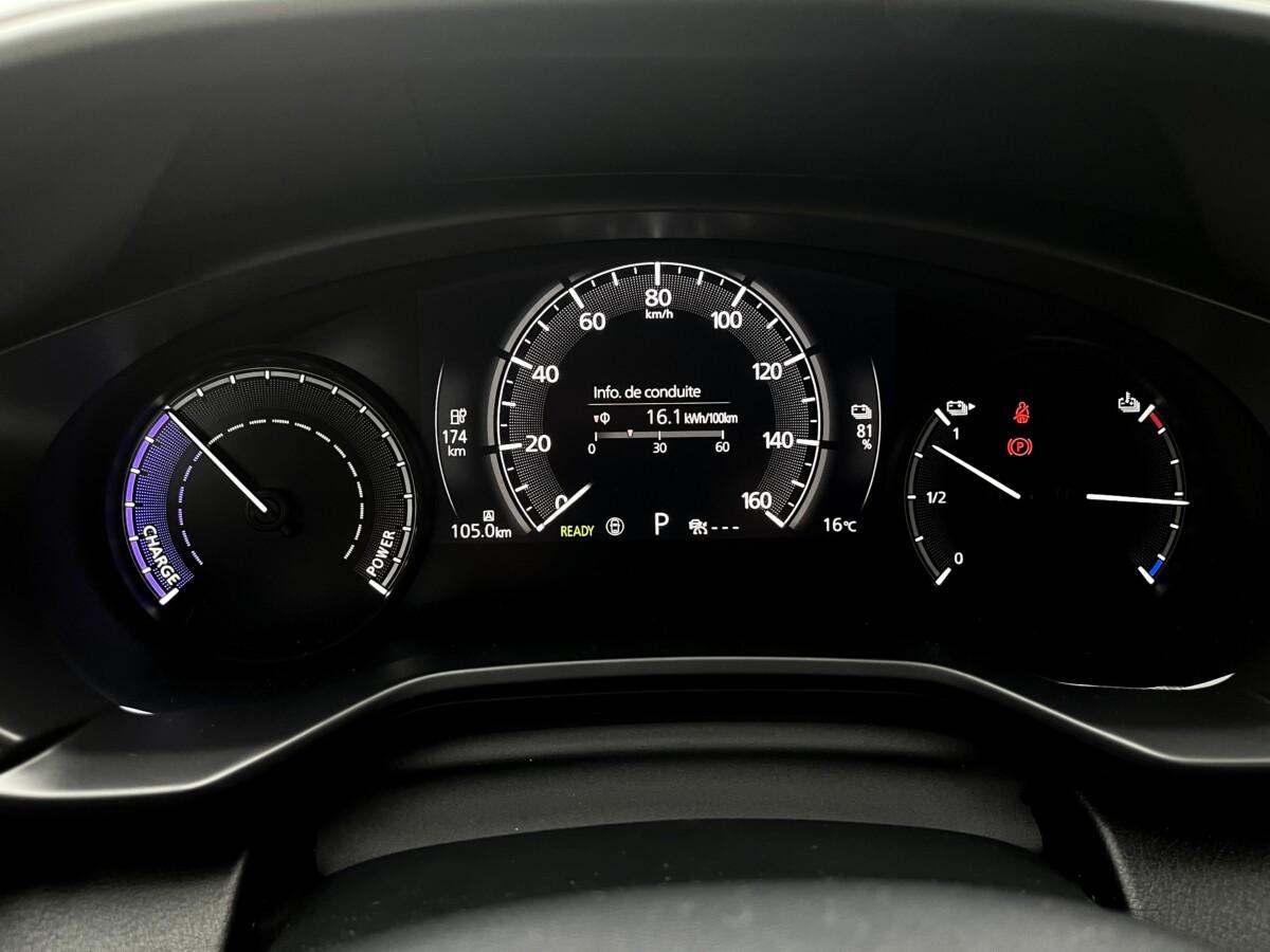 Les compteurs de la Mazda MX-30