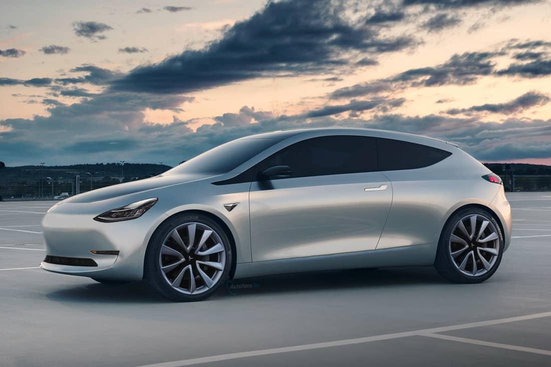 Un des rendus de la Tesla Model2