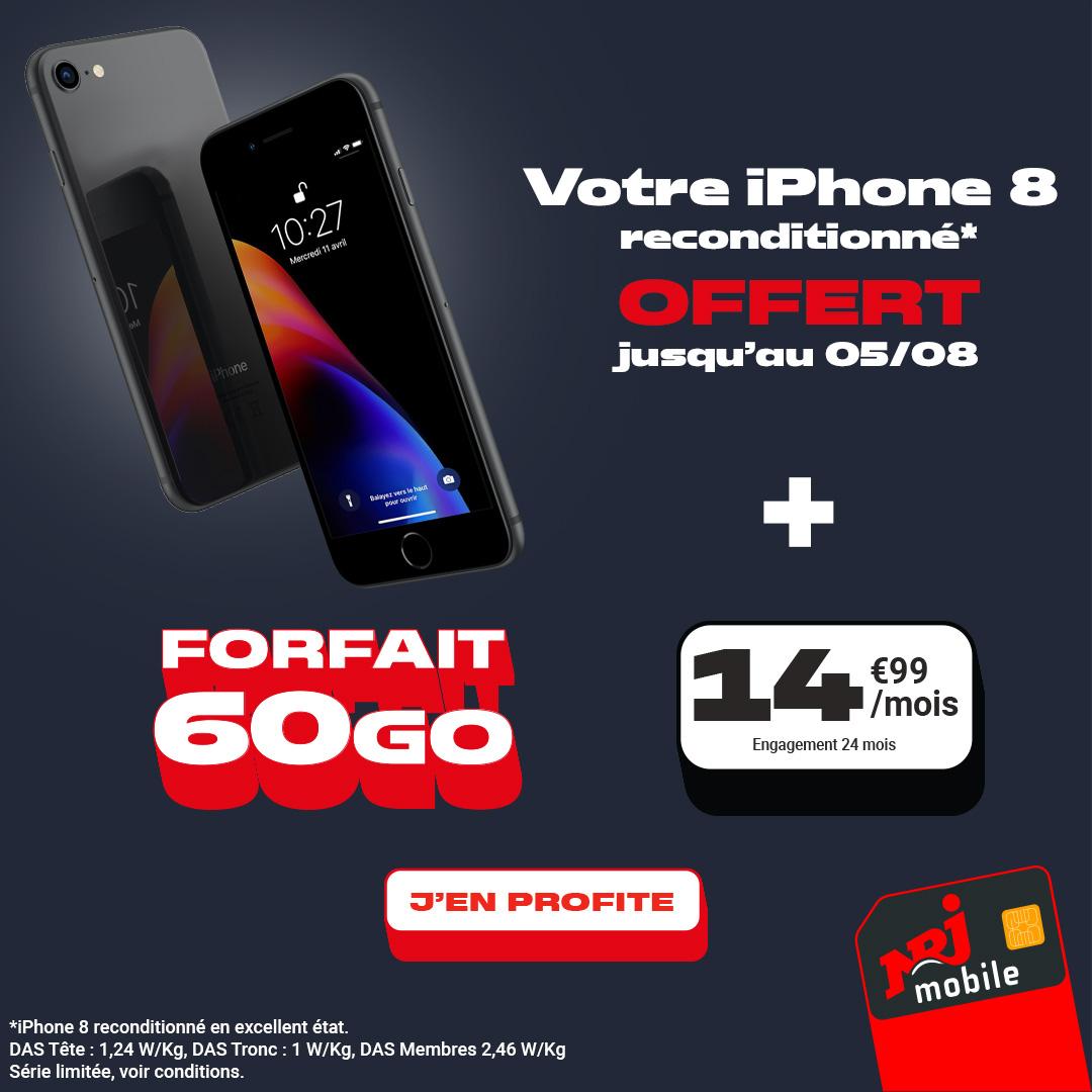 NRJ Mobile: ce forfait mobile 117Go en série limitée profite d'un prix bas toute l'année