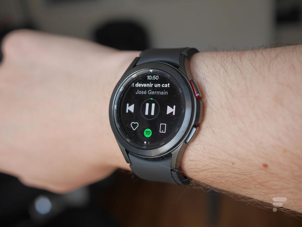 L'application Spotify sur Wear OS