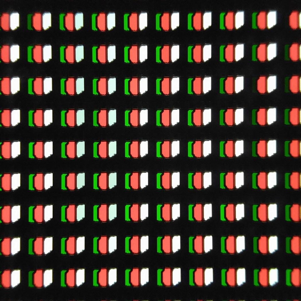 Les pixels de la dalle au microscope, la même structure que les précédentes séries.