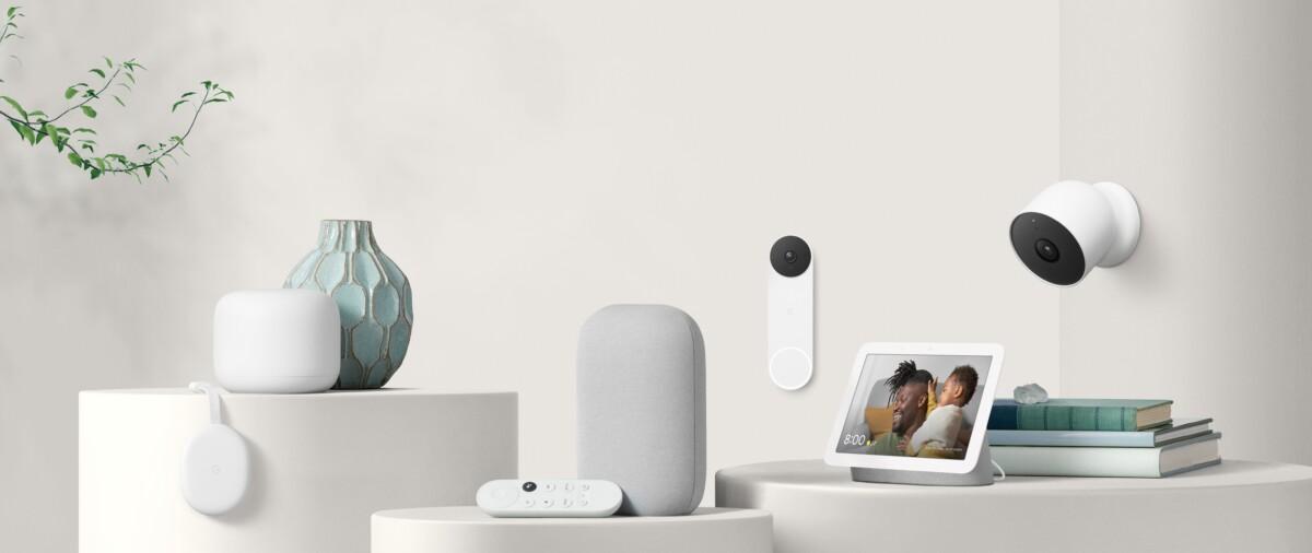 La gamme de produits Google Nest