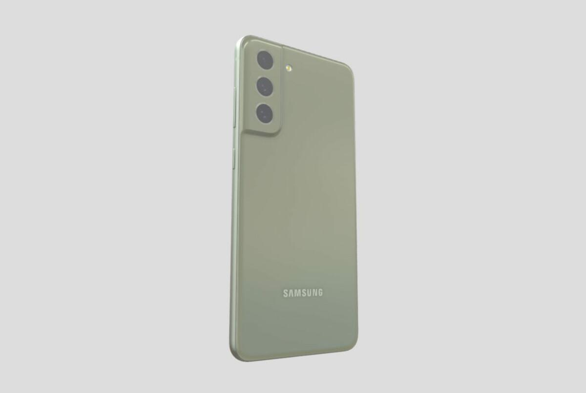 Renderização 3D do Samsung Galaxy S21 FE