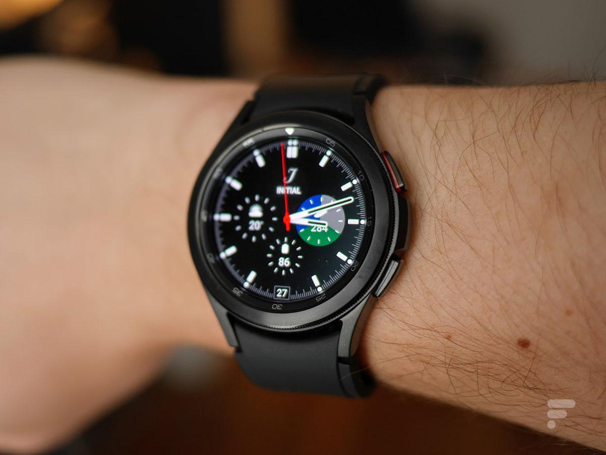 L'écran de la Samsung Galaxy Watch 4 Classic