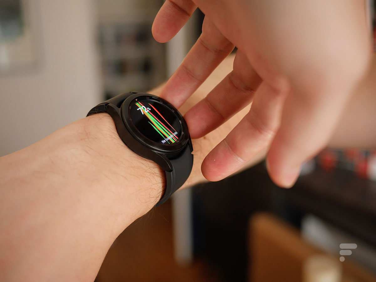 La Samsung Galaxy Watch 4 Classic permet de mesurer la masse graisseuse