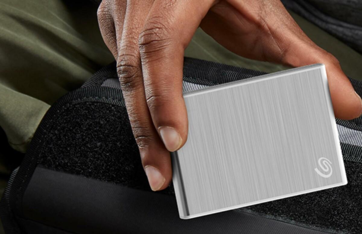 Le design compact du disque dur externe One Touch