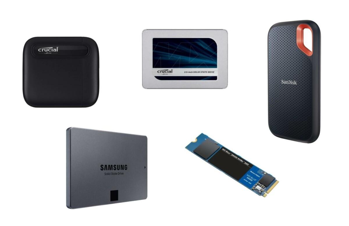 Notre TOP 5 des SSD internes, externes et NVMe actuellement en promotion