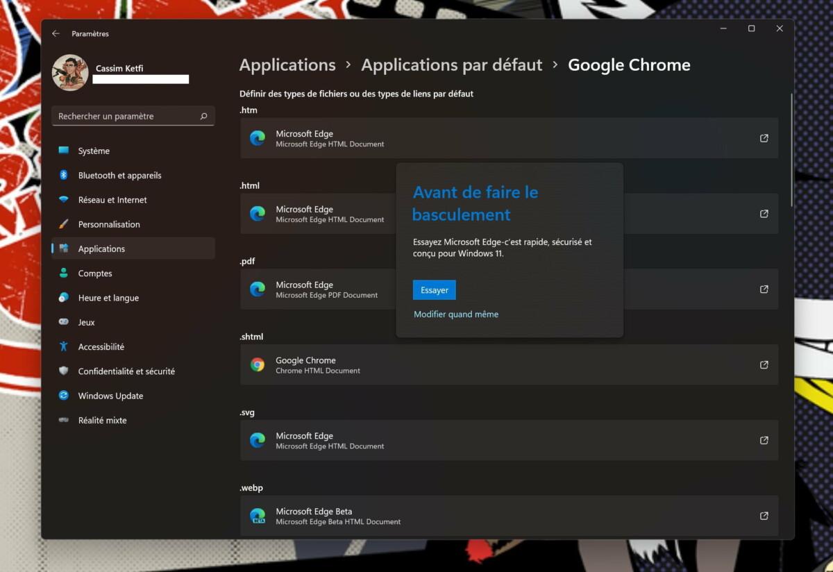 Windows 11 hace que sea más difícil cambiar el navegador predeterminado