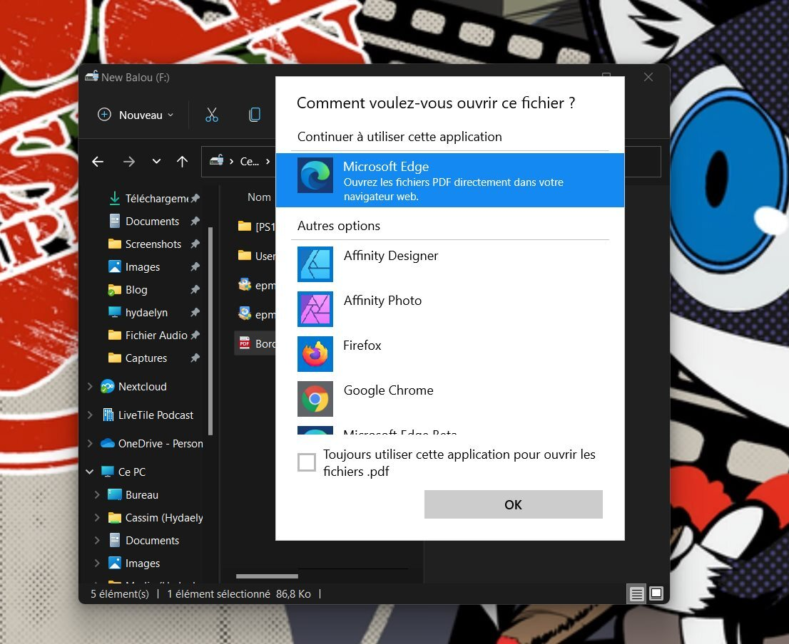 Recuerde marcar la casilla en la parte inferior para cambiar su navegador predeterminado en Windows 11