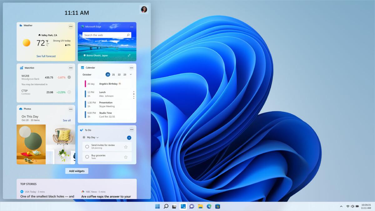 Les widgets de Windows11
