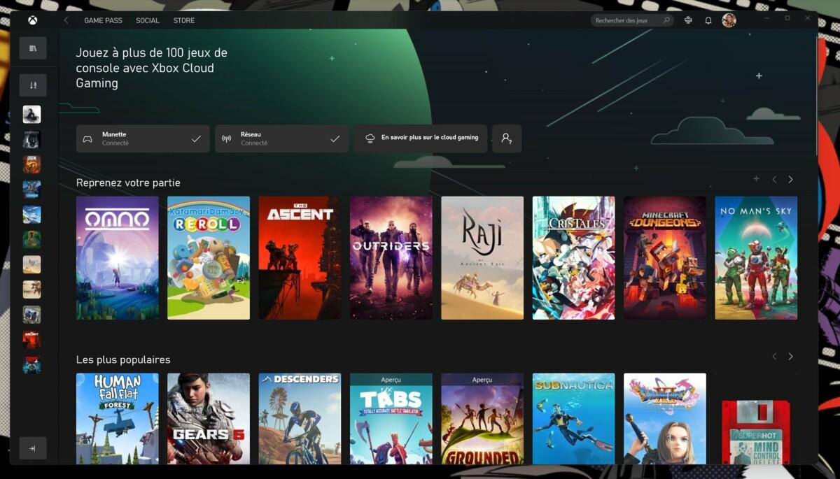 Windows : l'application Xbox sur PC reçoit Xbox Cloud Gaming et le Console Streaming