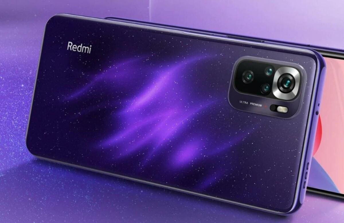 Le Xiaomi Redmi Note 10S en coloris violet