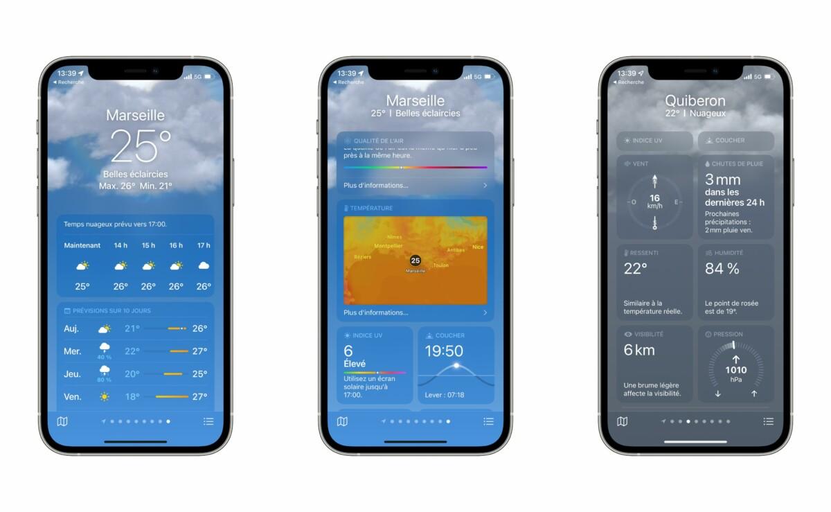 La nueva aplicación meteorológica muestra muchos más detalles que la anterior.