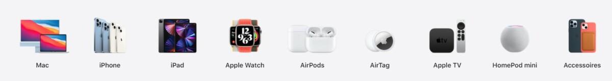 Le catalogue Apple