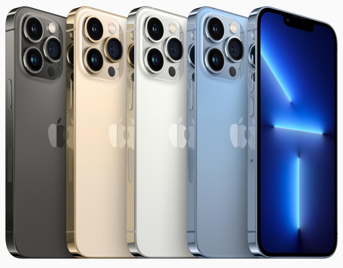 Les coloris des iPhone 13 Pro et iPhone 13 Pro Max