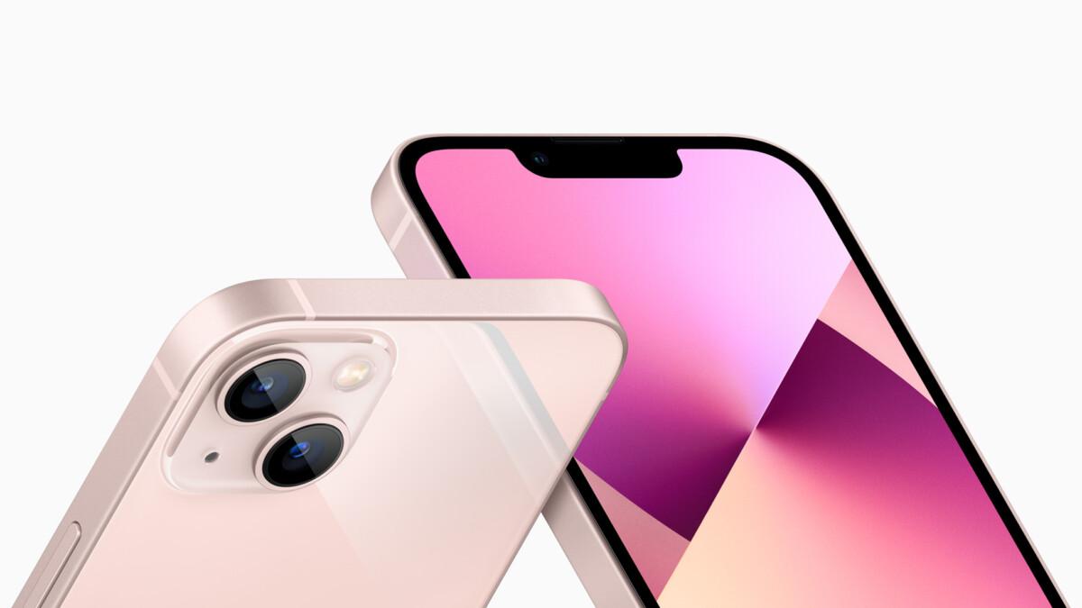 l'iPhone 13 en coloris Rose