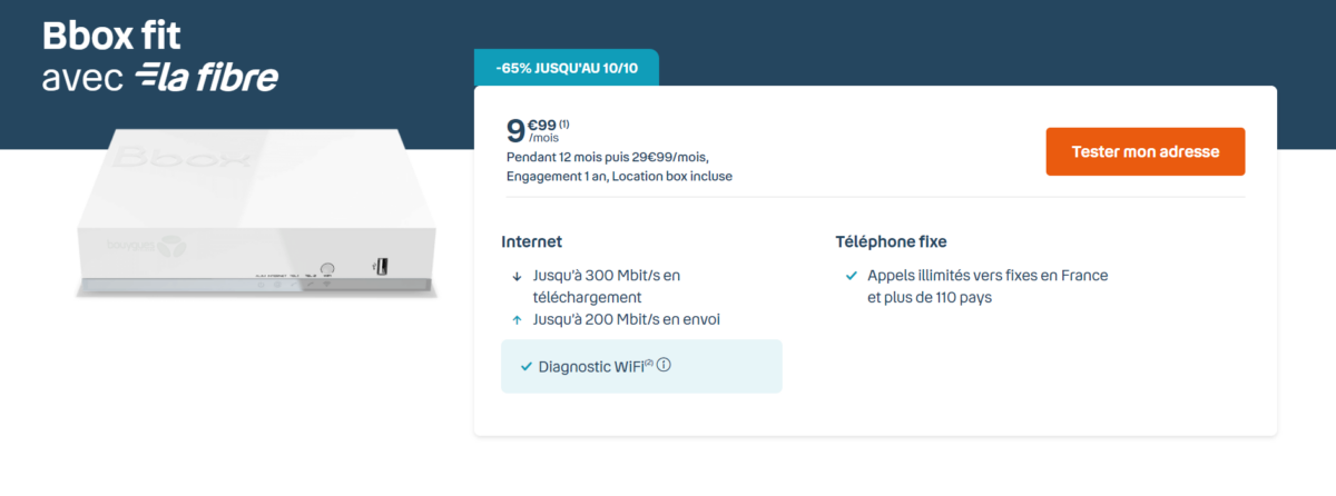 C'est en allant à l'essentiel que cet abonnement internet fibre ne coûte que 9,99euros par mois