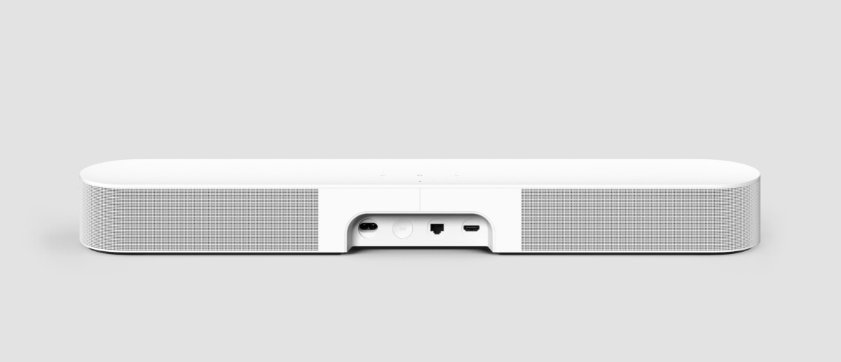 Les connectiques au dos de la nouvelle Sonos Beam