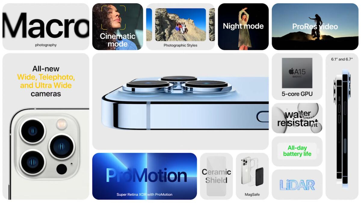 iPhone 13 Pro et 13 Pro Max annoncés : l'écran 120 Hz arrive enfin sur les iPhone