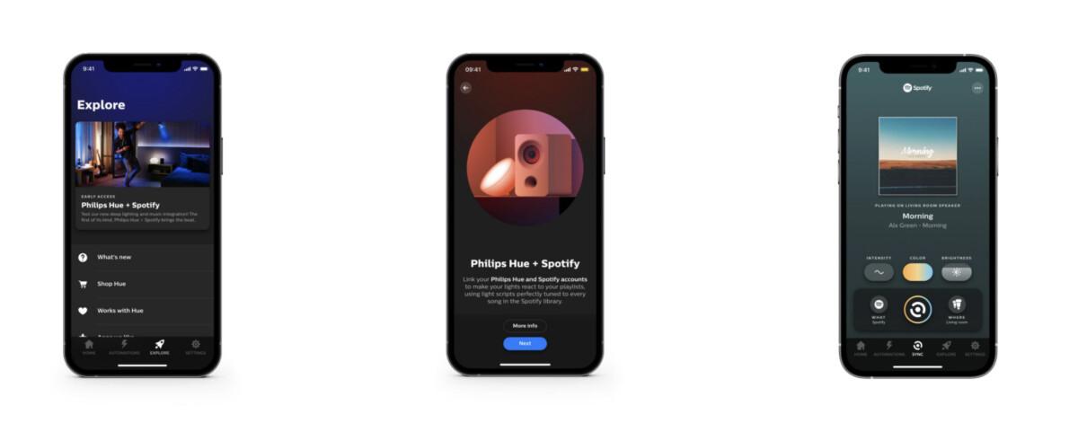 Spotify va intégrer l'app Philips Hue pour piloter les éclairages en rythme