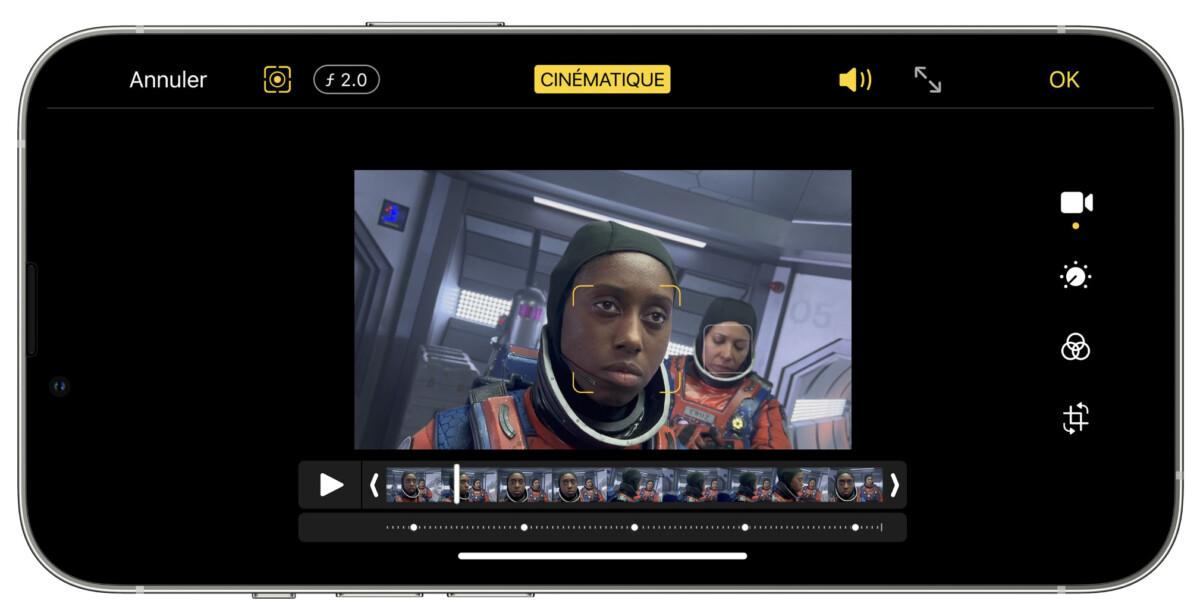 Le mode cinématique arrive sur tous les iPhone 13