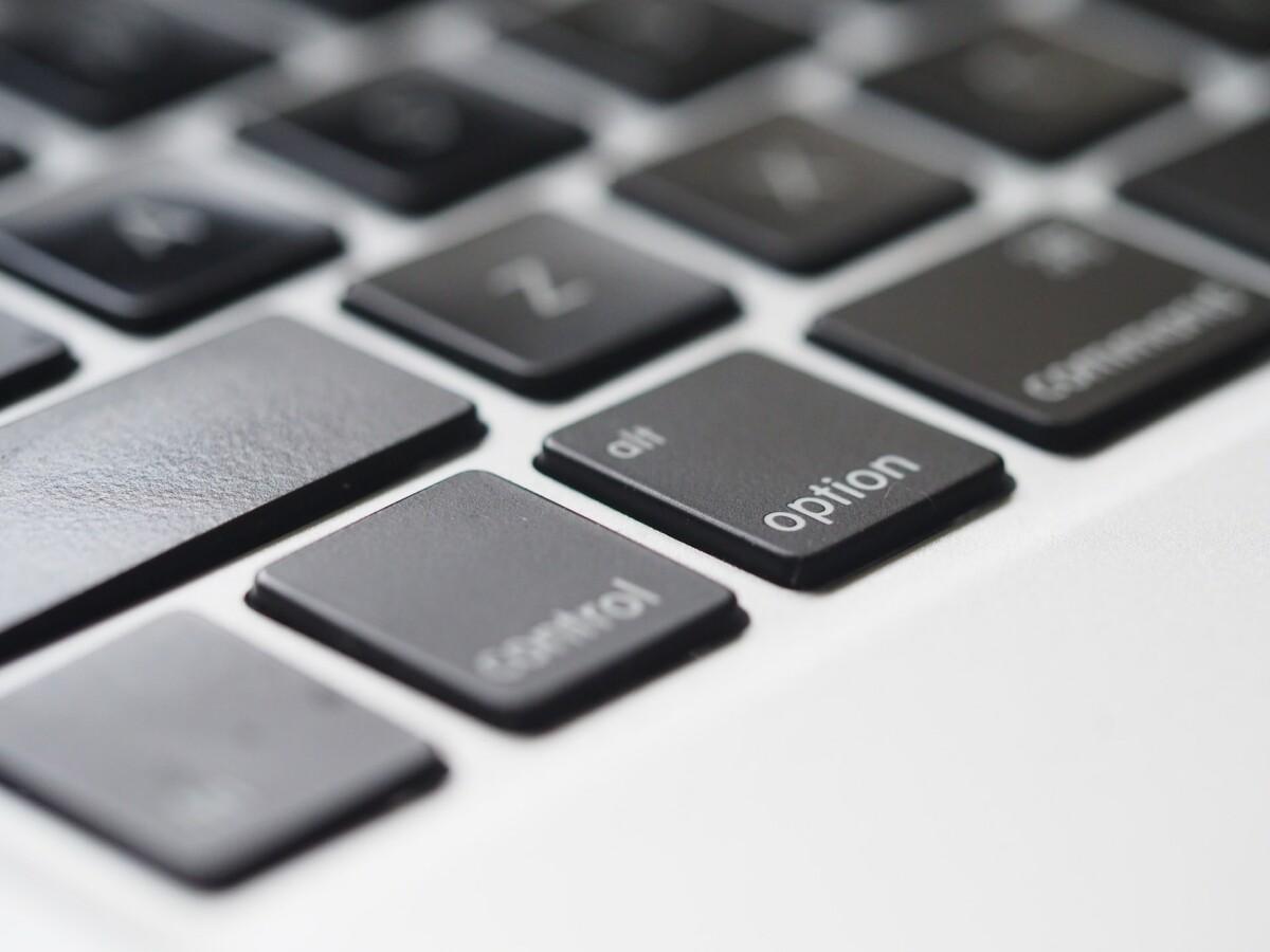 Le clavier d'un MacBook