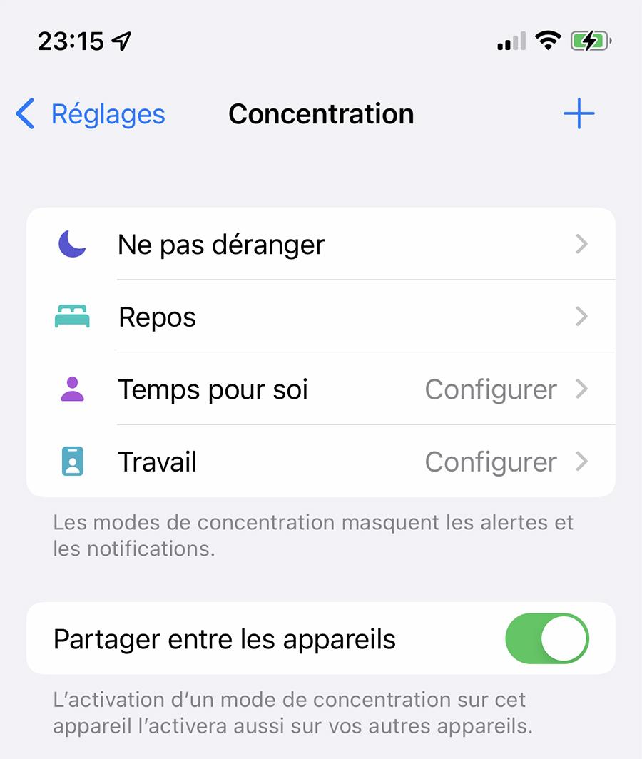¿Cómo configurar Concentration en iPhone y iPad (iOS 15)?