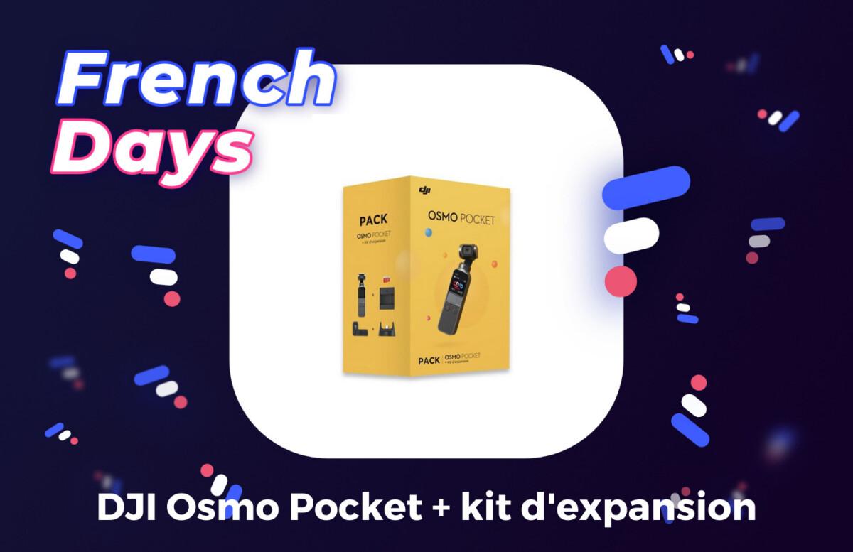 Pack DJI Osmo Pocket illustration French Days par Frandroid