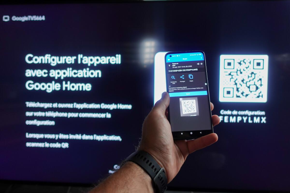 Google TV assure une configuration très aisée – Source: D. Nogueira pour Frandroid