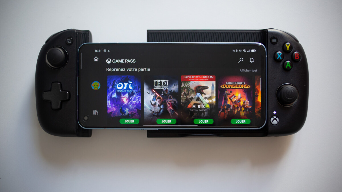 Le catalogue Xbox Game Pass disponible depuis un smartphone. Source : Frandroid