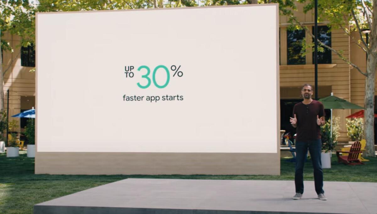Google indique que Wear OS 3 permet de lancer les applications 30 % plus rapidement
