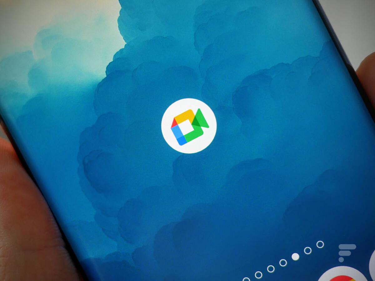 L'application Google Meet sur smartphone
