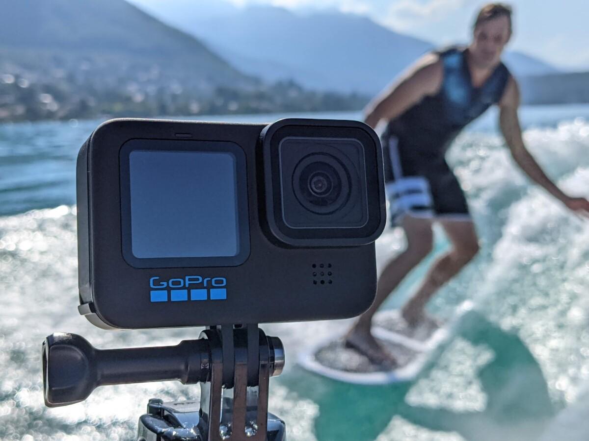 La GoPro Hero10 Black en pleine session wakesurf