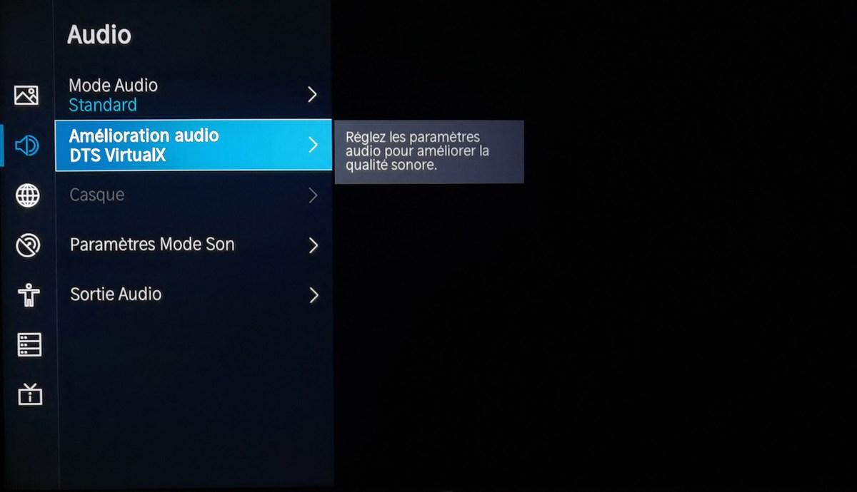 Le téléviseur est compatible DTS:X.
