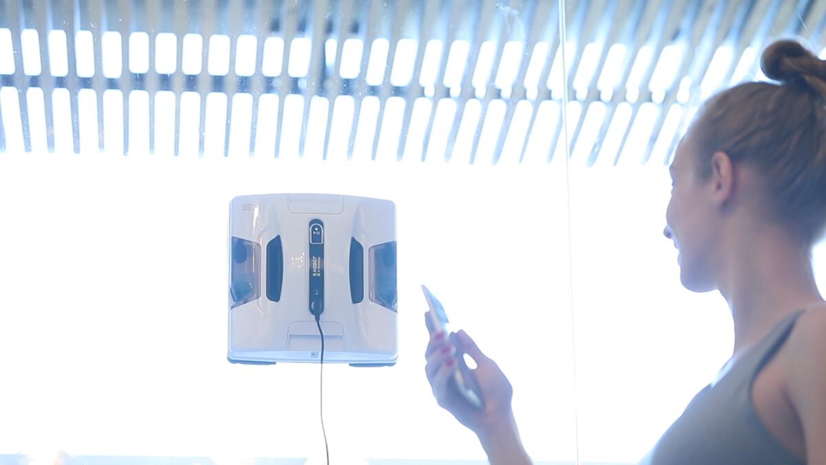 Le robot laveur de vitres Hobot-2S